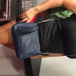 Michael Kors authentic navy medium shoulder bag